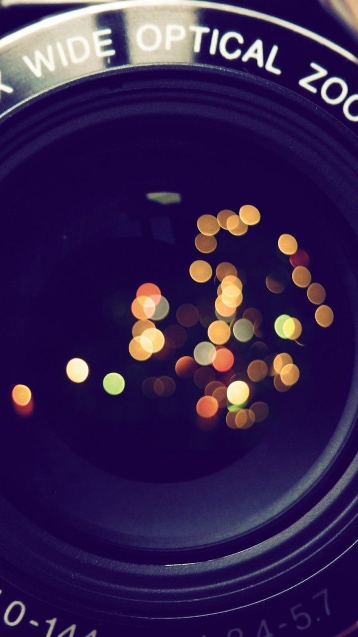 Bokeh Reflection On Camera Lens Find More Cute Vintage Wallpapers For Your IPhone