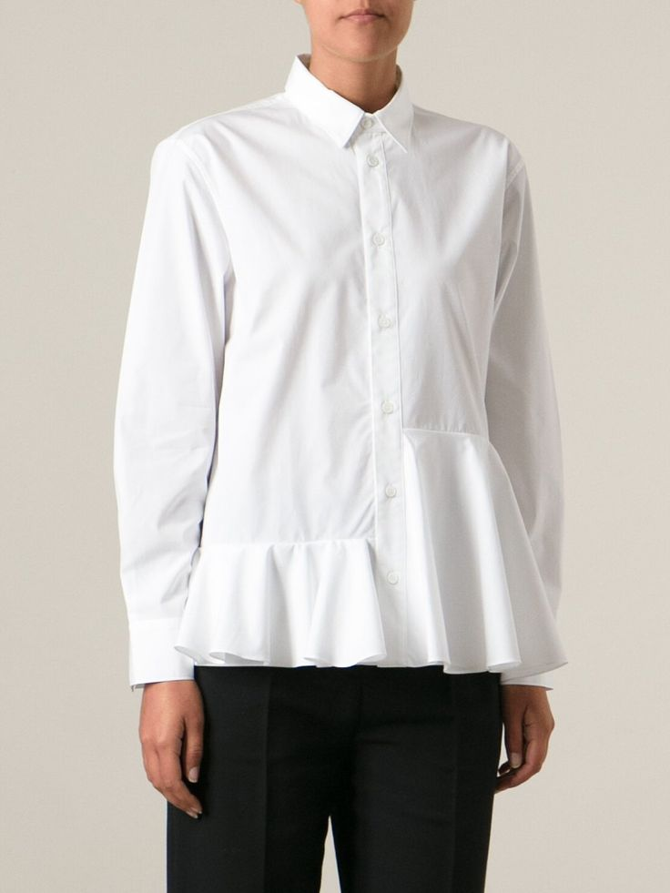 Marni рубашка с баской