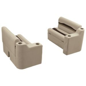 Wise Talon Pontoon Furniture Series 36'' Bench and Arm Rest Set - Java/Cuddy Cafe/Chesapeake