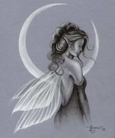 moon and fairy drawings - Google Search