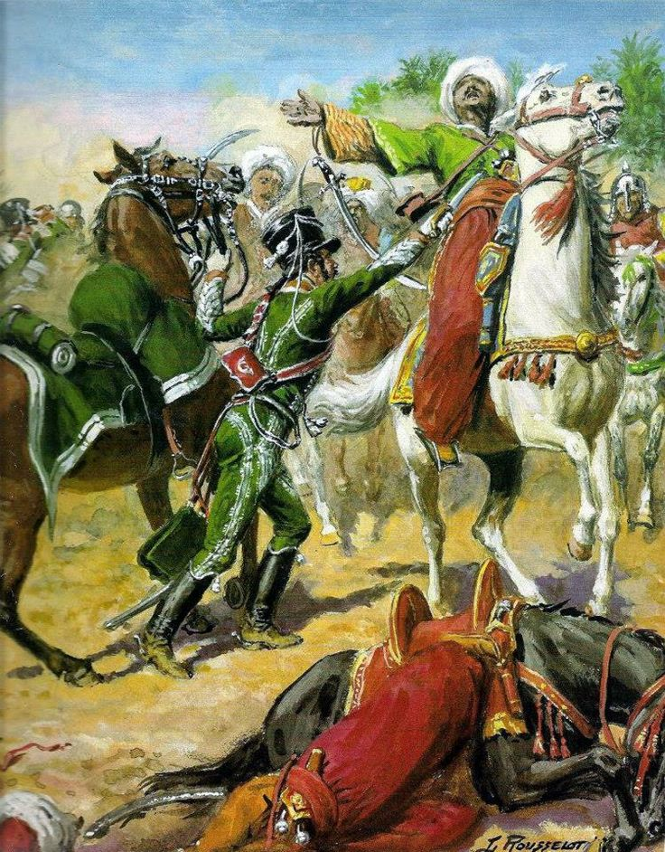 NAP- France: The head of the Brigade of Lasalle in the Battle of Salahich, by Lucien Rousselot.