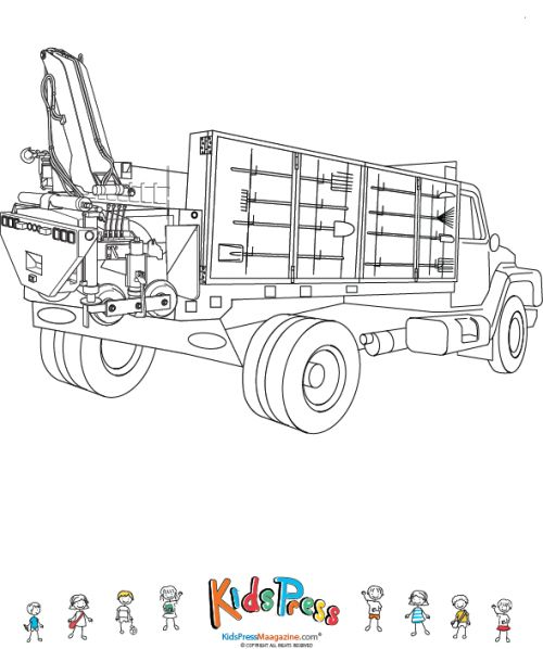 road work truck coloring page
