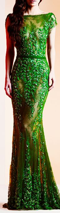 Partial poison ivy concept. Make a dress with the leaves covering the top, and going down the skirt (partially sheer as a slit?)