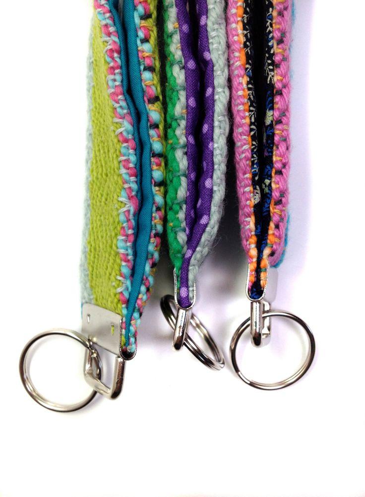 New to pidgepidge on Etsy: Miami   Gift Set of 3 Woven Key Fob Wristlets   Handwoven Key Fob Bundle   Modern Colorful Key Chains   Striped Keychain Trio   Boho Straps