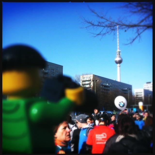 Halbmarathon Berlin 2012, Start, Alexanderplatz, Fernsehturm