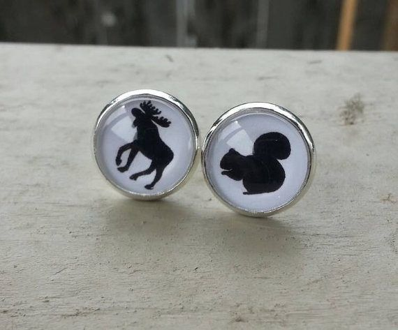 Supernatural Moose and Squirrel Earrings