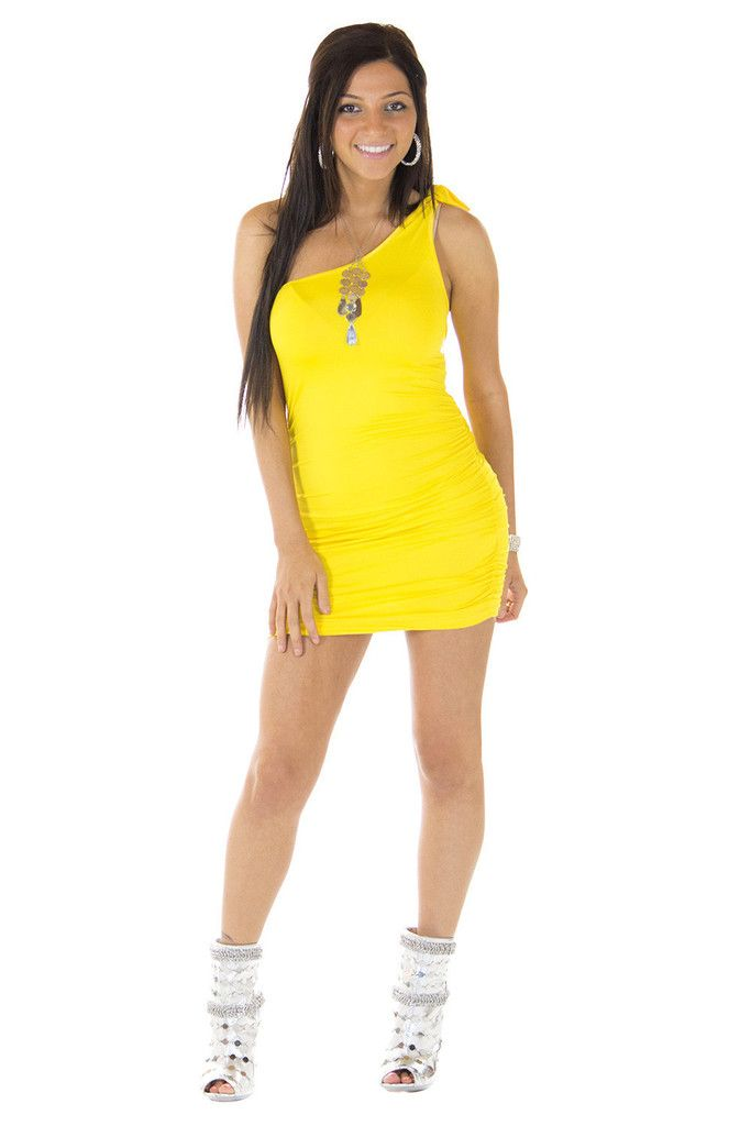 Do Me a Solid Yellow Dress | Sexyback Boutique
