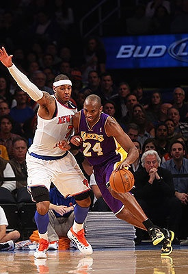 Kobe Bryant expecting heavyweight fight against Carmelo Anthony and Knicks