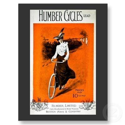 Anuncio de la bici de Humber vintage Tarjeta Postal por scenesfromthepast