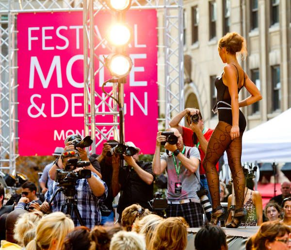 Montreal's Festival Mode & Design Outdoor fashion shows