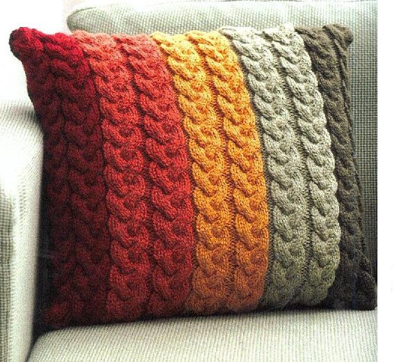 Cushion Knitting Patterns To Download : Instant PDF Download Vintage Row by Row Knitting Pattern to make An Easy Cabl...