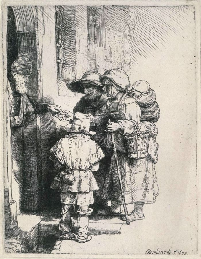 Beggars Receiving Alms at the Door of a House by Rembrandt #art & 49 best Rembrandt images on Pinterest | Rembrandt paintings ... Pezcame.Com
