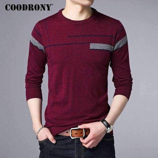 afe7291b Coodrony 2017 Autumn Winter Warm Cashmere Sweater Men Wool Pullover ...