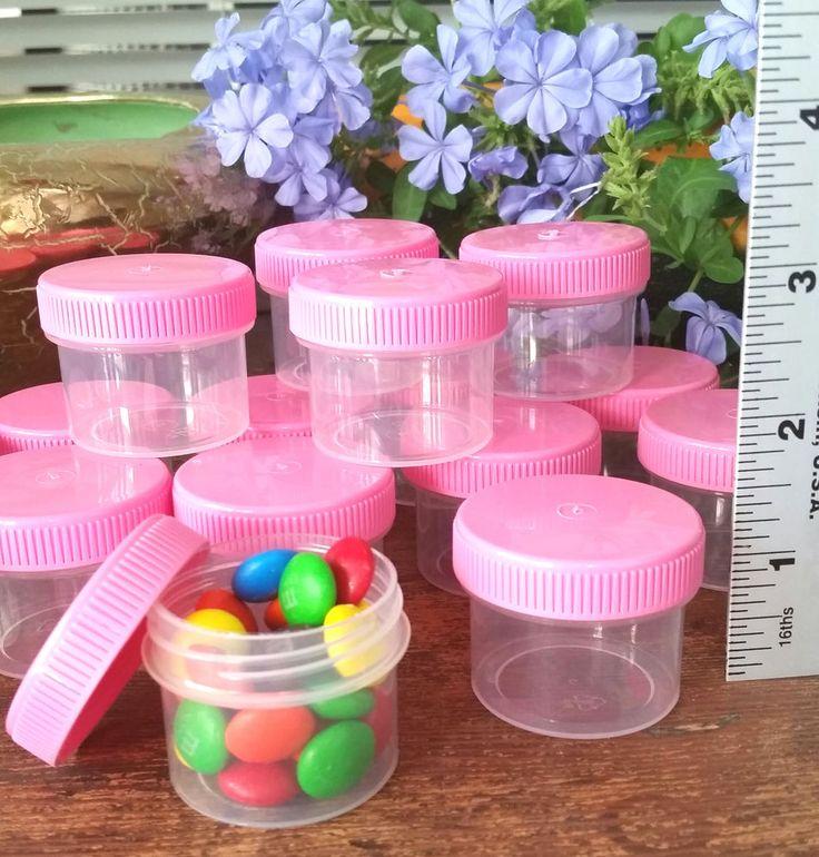 96 * One Ounce Jars Container Glitter Nail Art Jewelry PINK Cap DecoJars 4304 #DecoJars