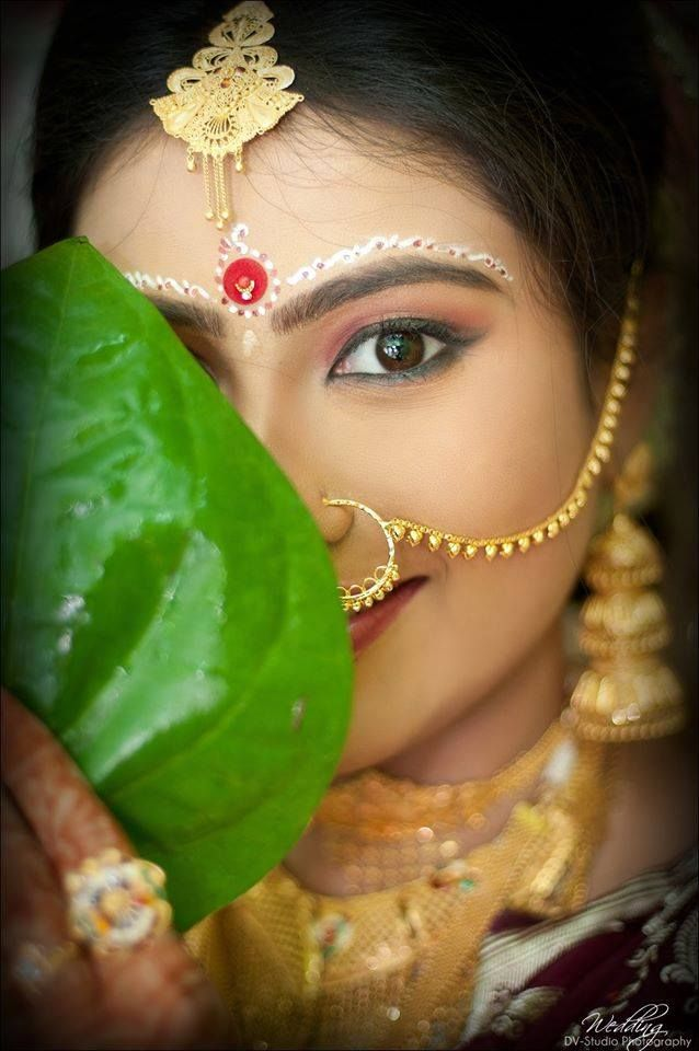 Bengali Wedding, Indian Wedding, beautiful bengali bride