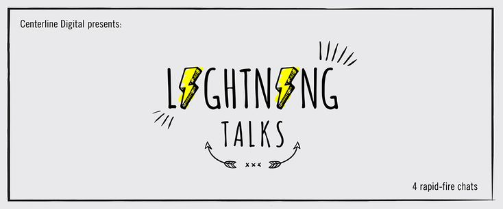 """""""Lightning Talks help foster organic community engagement and collaboration around the many disciplines that make the Centerline wheels turn. Simply put, they allow Centerliners to talk about all the badass work they do on a daily basis, which in turn inspires other Centerliners. They can be on anything – content marketing, strategy principles or even Drake's love life. Well, kinda.""""    -  See the """"Centerline Lightning Talks"""" here!"""