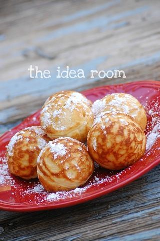 another æbleskive recipe. This one separates the eggs to whip the whites. That is how we made them. SO WONDERFUL!
