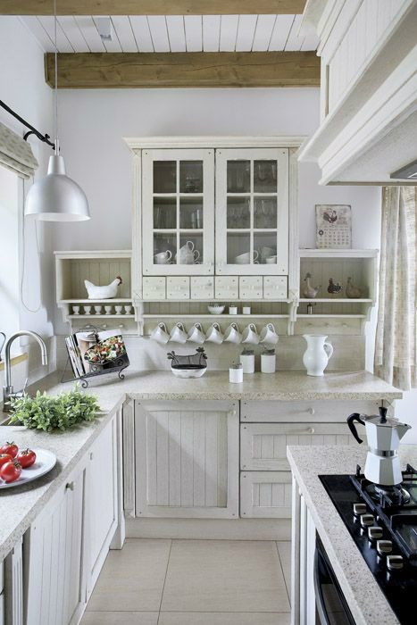 pretty country cottage kitchen