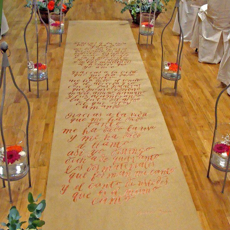 M s de 1000 ideas sobre letras de canciones de boda en - Alfombras finas pasillo ...