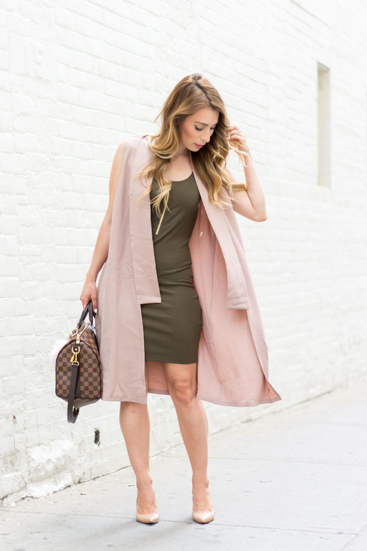 OOTD - Blush Pink + Olive Green | La Petite Noob