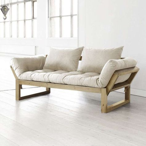 Fresh Futon Edge Natural Wood Convertible Futon Sofa - Futons at Hayneedle