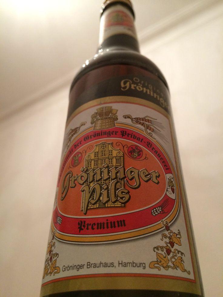 Gröningen Pils. Gröningen Brauhaus Privat-Brauerei, Hamburg. AD 1516.