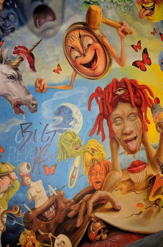 Trippie Redd Life S A Trip Music Album Cover Art Silk Cloth Poster 13x20 20x30 24x36 27x40 32x48 Album Cover Art Trippie Redd Music Album Cover