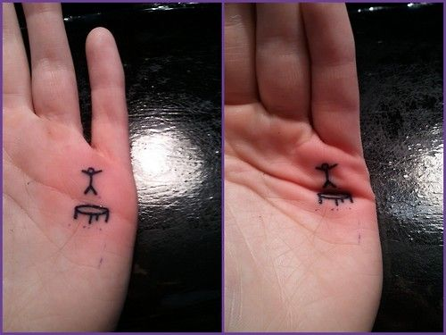 Trampoline small hand tattoo. I would never get a tattoo, but that