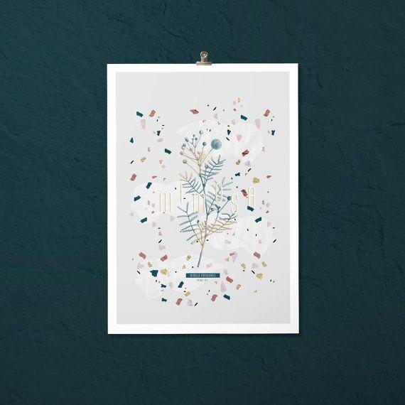 Affiche botanique | Mimosa #PLANT -1-   |  Impressions botaniques & graphiques en édition limitée