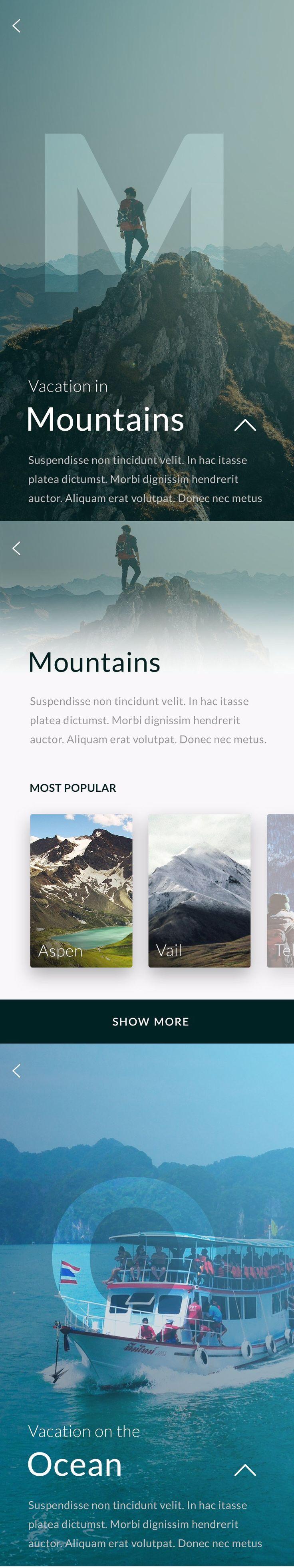 Free Travel App Screens by Apolonia Podleszka