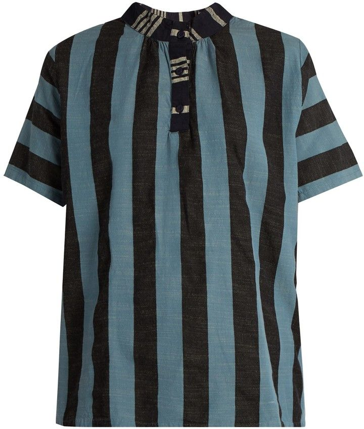 ACE & JIG Mercer striped cotton top
