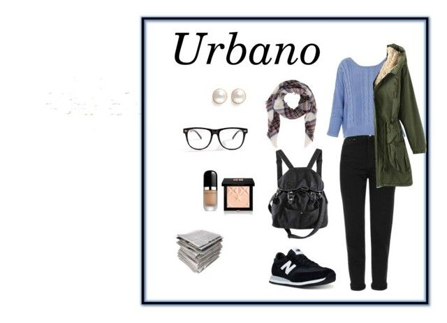 Urbano Natural by carlablasco on Polyvore featuring moda, Topshop, New Balance, Shihara, Armitage Avenue, Givenchy, Marc Jacobs and H&M