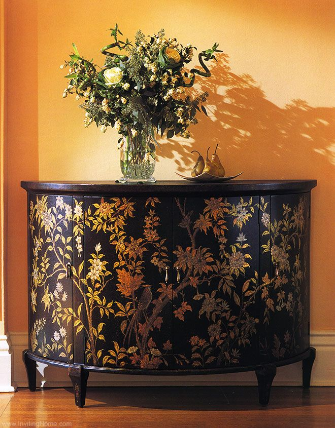 Hand Painted Furniture   Combining Utility With Hand Painted Cabinets