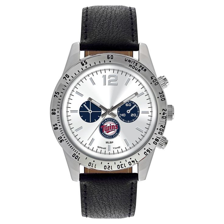 Men's Game Time MLB Letterman Sports Watch - Black - Minnesota Twins