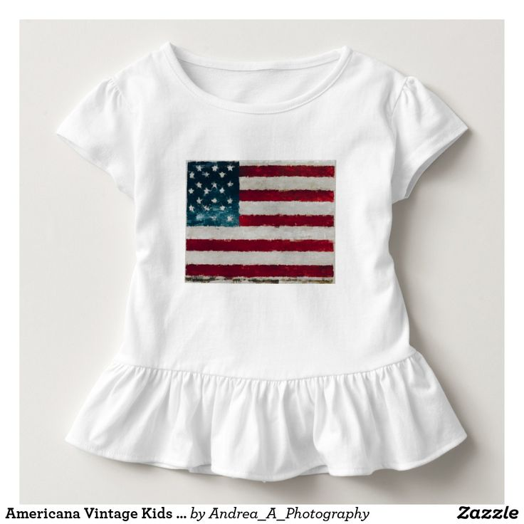Americana Vintage Kids Top #Americana #Vintage #partysupplies #cups #papercup #papaerplates #plates #4thofjuly #patriotic #americanflag #texture #military #usa