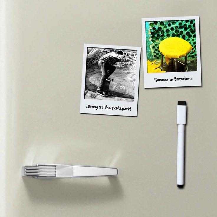 Wem die Instax zu teuer ist - hier eine billige Alternative. Polarframes von DOIY – magnetische Rahmen im Polaroid Stil für den Kühlschrank.