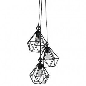 Hanglamp ijzerdraad Mazarin triple