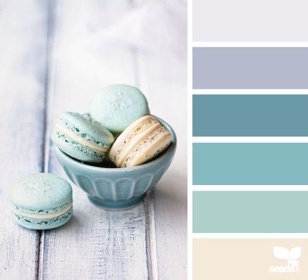 """Macaron Tones"" pastel lavender purple & turquoise blue color palette from Design Seeds."