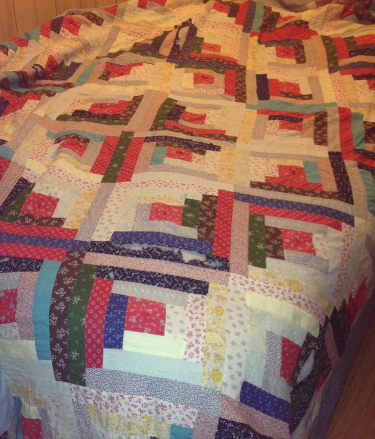 My first quilt, finished in 1990. In need of repair!