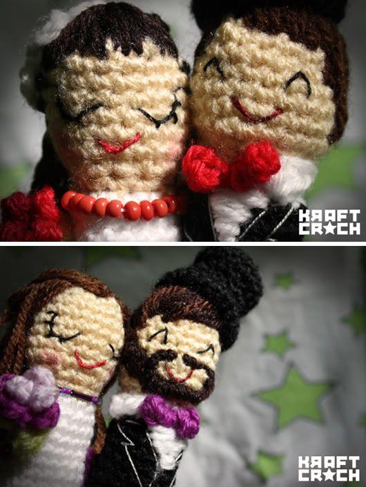 We love... las figuras de novios en croché de @Marisa McClellan kraftcroch #figurasnovios #caketoppers #tendenciasdebodas