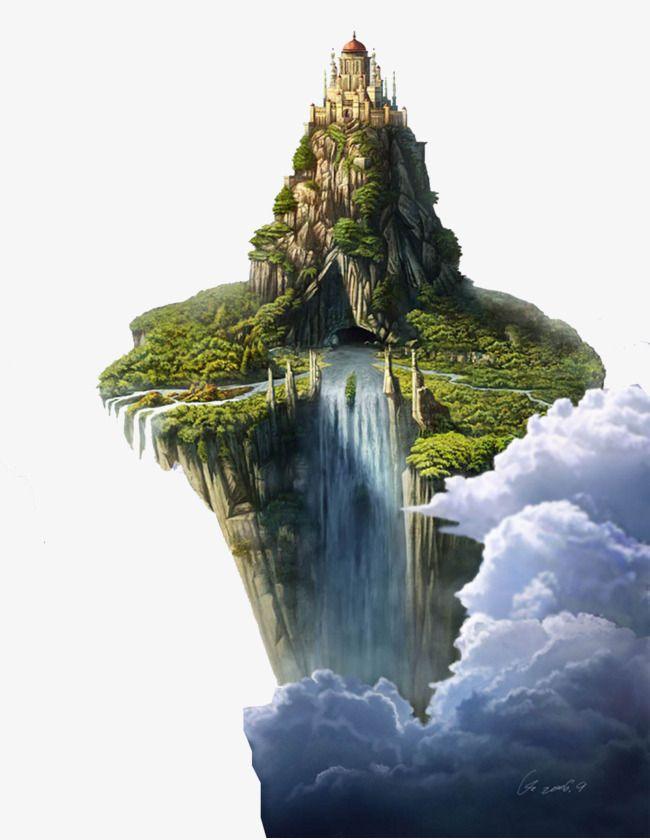 Air Island Floating Island Floating Island Png Image Ilha Da Fantasia Pinturas Cachoeira Flutuando