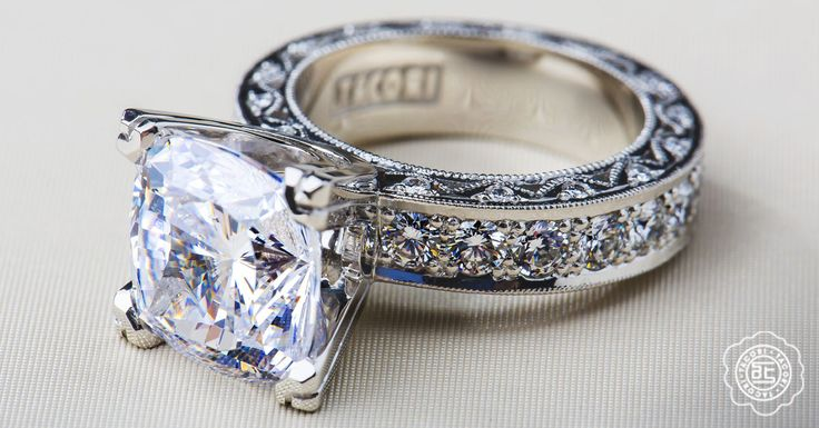 "Tacori's most requested ring...is back!  It's a custom variation of style HT2530A - just go to any Tacori location and they can ""special order"" this for you..."