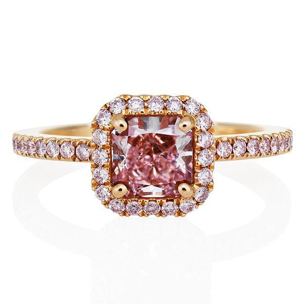 デビアス オーラ リング ピンクダイヤモンド - DE BEERS(デビアス)の婚約指輪。ゴールドのエンゲージリング・婚約指輪一覧❤