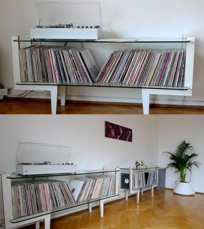 a really nice clean unique record storage idea