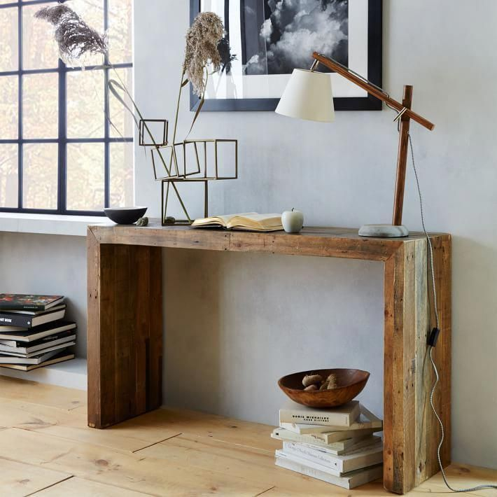 Emmerson 174 Reclaimed Wood Console Natural Wood Console