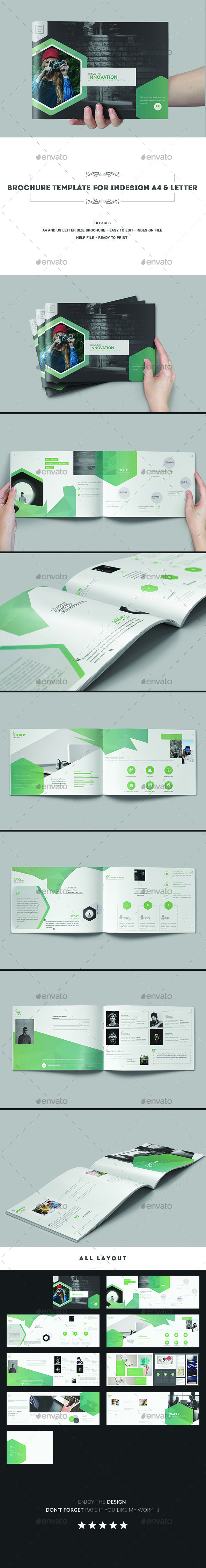 Brochure Template InDesign INDD - A4 and Letter Size