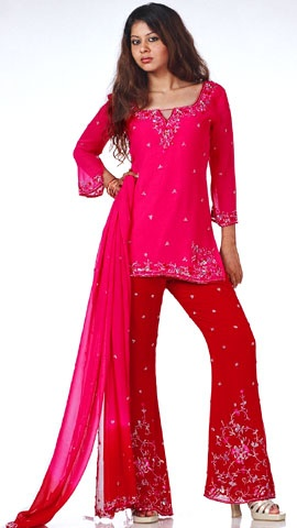 I have a couple of salwar kameez - but this one is more modern and hip.  I like this.