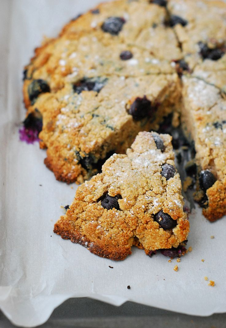 Blueberry Scones - Crunchy sweet outside, juicy blueberries and flaky tender inside.  No one will ever know that these are low carb.