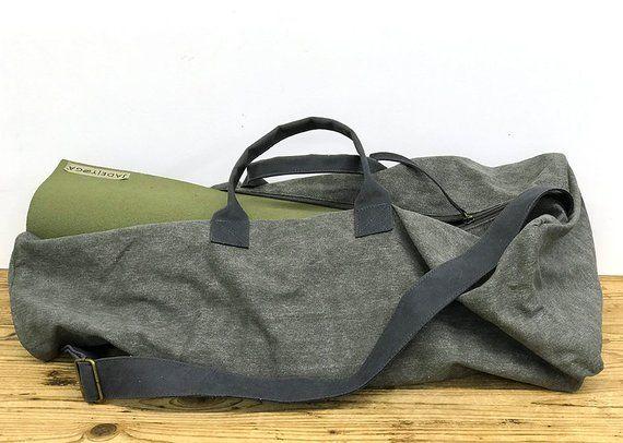 Yoga Bag Gym Bag Pilates Bag Overnight Bag Large Yoga Bag Etsy Large Yoga Bag Leather Weekender Bag Yoga Bag