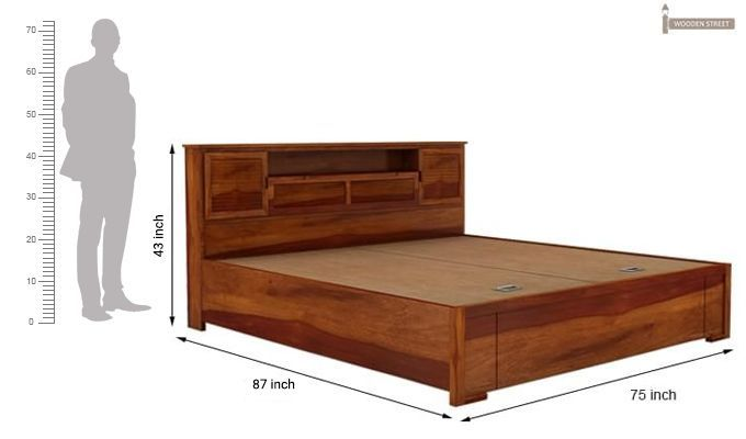Buy Ferguson Hydraulic Bed King Size Honey Finish Online In